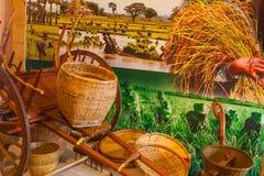 Werkzeuge im Reis gruppieren sich an Ausstellung 2015, Mailand Stockfotografie