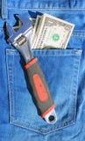 Werkzeuge und lösen Tasche ein Lizenzfreies Stockfoto