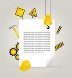 Werkzeuge und Seitenzusammensetzung Lizenzfreie Stockfotografie