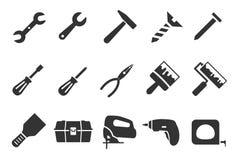 Werkzeugikonen vektor abbildung