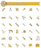 Werkzeugikonensatz Lizenzfreies Stockbild
