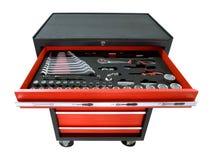 Werkzeugkasten auf Rädern Lizenzfreies Stockbild