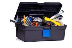 Werkzeugkasten auf weißem Hintergrund lizenzfreie stockfotografie
