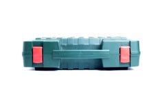 Werkzeugkasten getrennt auf weißem Hintergrund Stockfotografie