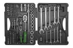 Werkzeugkasten mit Instrumenten Stockbild