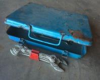 Werkzeugkasten mit Schlüsseln Stockfoto