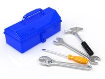 Werkzeugkasten und Werkzeug Stockbilder