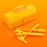 Werkzeugkasten und Werkzeug Stockfotografie