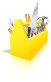 Werkzeugkasten voll Hilfsmittel Stockfotos