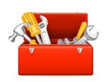 Werkzeugkastenikone Stockfoto