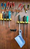 Werkzeugplatte mit örtlich festgelegtem Werkzeug Lizenzfreie Stockfotografie