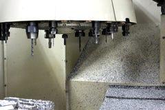 Werkzeugsatz in der Seite die Maschine Stockfotografie