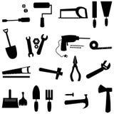 Werkzeugsatzikone Stockfoto