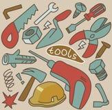 Werkzeugsatzvektor Lizenzfreies Stockfoto