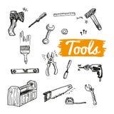Werkzeugskizzen lizenzfreie abbildung