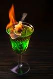Wermut vorbereitet für das Trinken lizenzfreie stockfotos