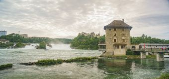 Werner Mandli AG przy Rhine Spada teren Obraz Royalty Free