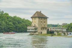 Werner Mandli AG przy Rhine Spada teren Zdjęcie Royalty Free