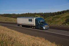 Werner Transportation/Kenworth azul imagen de archivo