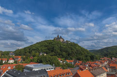 Wernigerode castle in Germany. Amazing view on Wernigerode castle in Germany Royalty Free Stock Photo