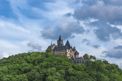 Wernigerode castle in Germany. View to the castle of Wernigerode in the Harz Mountains, Germany Stock Image
