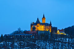 Wernigerode castle at night Royalty Free Stock Photography