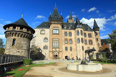 Wernigerode chateau. The front view of Wernigerode chateau, Germany royalty free stock image