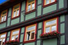 Wernigerode facades in Harz Germany Saxony Stock Photos
