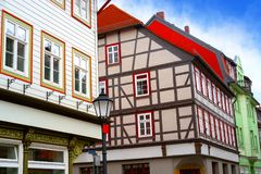 Wernigerode facades in Harz Germany Saxony Royalty Free Stock Photos