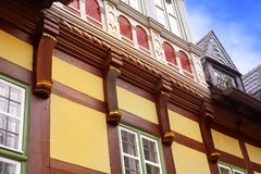 Wernigerode facades in Harz Germany Saxony Royalty Free Stock Photo