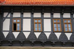 Wernigerode facades in Harz Germany Saxony Stock Image