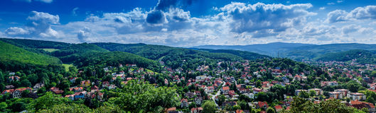 Wernigerode panroama Royalty Free Stock Photo