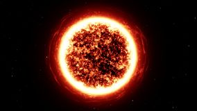 Werp de ster in de ruimte stock footage