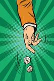 Werp dobbelen, het casino van de spelwillekeur Stock Foto