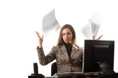 Werp documenten stock afbeeldingen