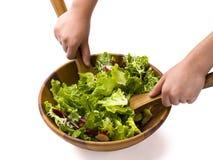 Werpende salade Stock Foto's