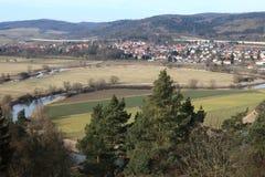 Werra zapętla przy Herleshausen Zdjęcie Royalty Free