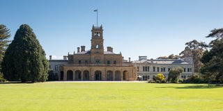 Werribee Mansion Gardens. The grounds of Werribee Mansion on a clear spring day in Werribee, Victoria, Australia stock photos