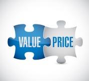 Wert- und Preispuzzlespielstückillustrationsdesign stock abbildung