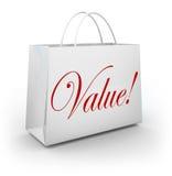 Wert-Wort-Einkaufstasche-spezielle Abkommen-Einsparungen lizenzfreie abbildung