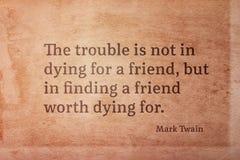 Wert zu sterben Twain Lizenzfreie Stockbilder