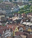 Wertheim aerial view at summer time Stock Photos