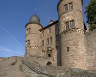 Wertheim Castle detail at summer time Royalty Free Stock Photos