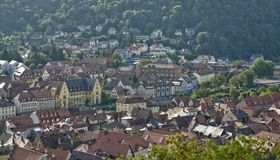 Wertheim am Main aerial view Royalty Free Stock Photography
