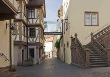 Wertheim miasta Stary Grodzki widok obrazy stock