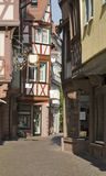 Wertheim Old Town at summer time Royalty Free Stock Images