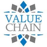 Wertschöpfungskette-Blau Grey Squares Background Lizenzfreies Stockbild