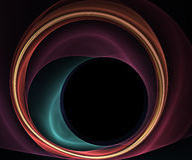 Wervelende cirkels stock illustratie