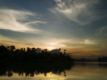Wervelende Wolken Royalty-vrije Stock Afbeelding
