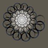 Werveling, draaikolkachtergrond Roterende spiraal Patroon van het wervelen van harten Pictogram, ringen, gradiënt, uitnodiging, p stock illustratie